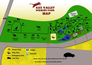 Map of Axe Valley Wildlife Park